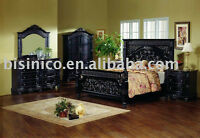 High end Black King size Bedroom Set!