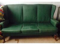 Sofa, 3 seater, designer sofa by Parker knoll, delivered