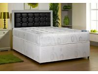 FAST DELIVERY!! DOUBLE DIVAN FULL MEMORY FOAM BED !! BASE + MEMORY FOAM MATTRESS --SINGLE KINGSIZE