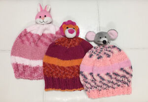 Hand Made Children's Knitted Animal Topper Hat.