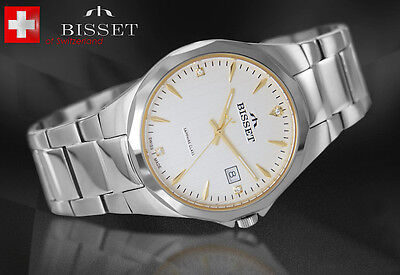 BISSET BSDD62 HARD SAPPHIRE GLASS SWISS MADE   Herrenuhr Swiss Made Armbanduhr