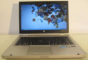 "HP EliteBook laptop 14"" HD screen 1600x900 with SSD"