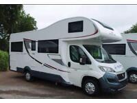 Motorhome Hire AutoRoller 746, large u shaped lounge, overcab double bed