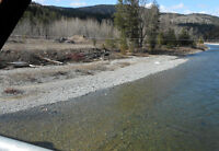 Placer gold claim on Tulameen river by Princeton