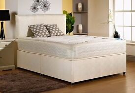 luxury king bed and mattress memory foam or orthopaedic free faux leather headboard free delivery