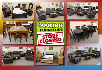 SPRING FURNITURE STORE CLOSING SALE! THE COUNTDOWN IS ON!
