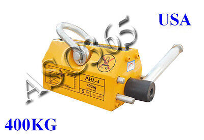 400 Kg Steel Magnetic Lifter Heavy Duty Crane Hoist Lifting Magnet 880lbs. New