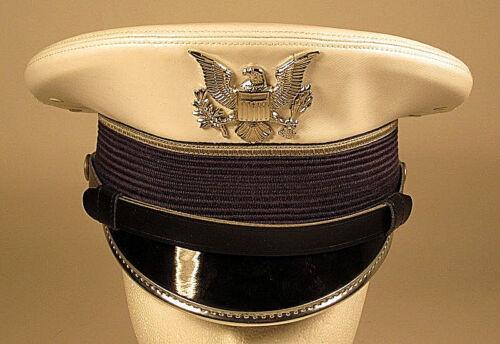 USAF USAFA US Air Force Academy Cadet Service Dress Whites Hat Cap 6 5/8 or 53