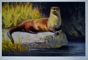 "Art4u2enjoy ""River Otter"" by Dwayne Harty Mtl"