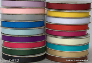 Grosgrain-Ribbon-10mm-wide-x-25-metre-reel-Choose-From-Many-Colours