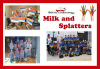 MILK AND SPLATTERS PAINT PARTY!
