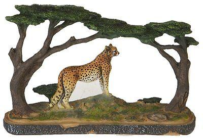 Leopard Deko Figur Safari Afrika Wild Life Dekoration Diorama Sammler WILD010