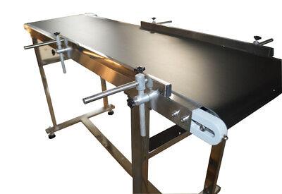 5915.7 Pvc Belt Conveyor Machine 110v120wdouble Guardrailsstainless Steel