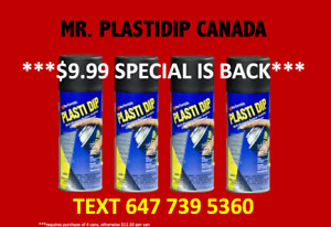 $10 PlastiDip Spray - Black Colour - Lowest Price In Canada!