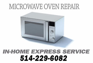 Microwave oven repair in-home service