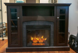 Electric Fireplace TV Stand - Like New Condition