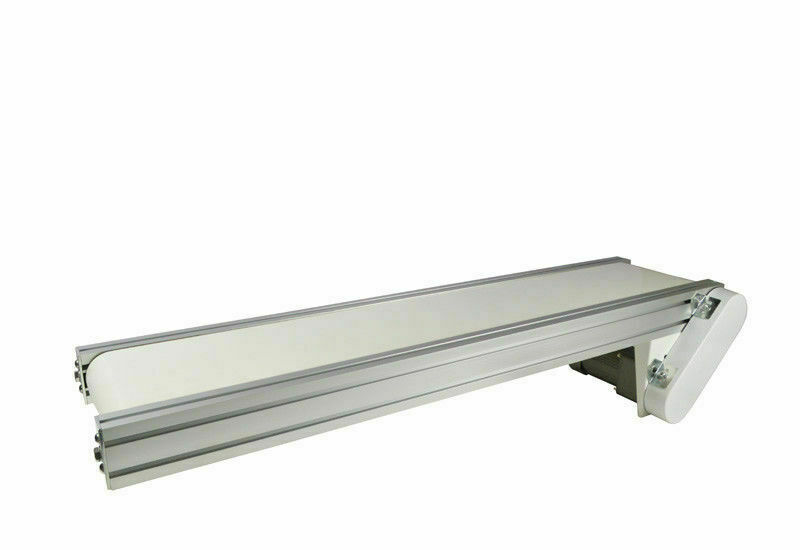 47x7.8 Electric Conveyor Aluminium Alloy White PVC Belt Goods Distribution