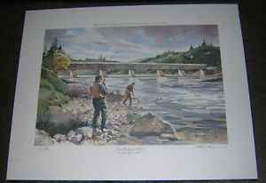 HARTLAND POOL NB PRINT SIGNED BY ARTHUR TAYLOR