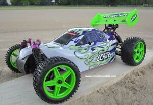New RC Buggy / Car Nitro Gas Engine 4WD 2.4G !/10 Scale Warhead Belleville Belleville Area image 2