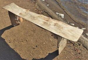 Magnifique banc en bois flotté/Gorgeous driftwood bench
