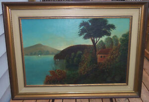 CARIBBEAN HIDEAWAY, OIL CANVAS, READY TO GO/EXCELLENT London Ontario image 1