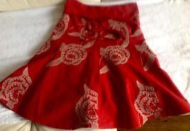 really lovely red Next skirt from next size 8