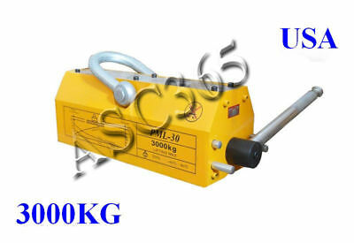 New 6614lb High Quality Steel Magnetic Lifter Crane Hoist Lifting Magnet 3000 Kg