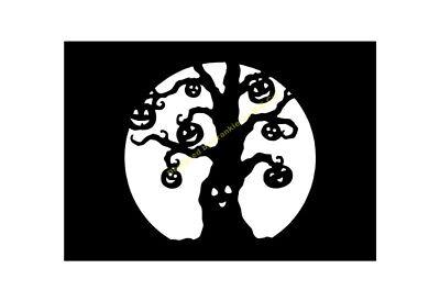 HALLOWEEN STENCIL The Pumpkin Tree A5/A4/A3/A2/A1/A0 350 micron HALL087 - The Halloween Tree Pumpkin