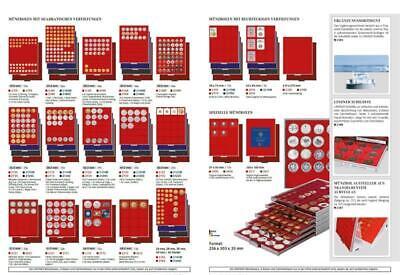 LINDNER 2211 MÜNZBOXEN Standard Set 5x 10 DM Gedenkmünzen Satz PP Blister