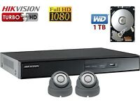 2 Professional Full HD 1080P CCTV Cameras Supply and Installation FREE Setup for Remote Viewing