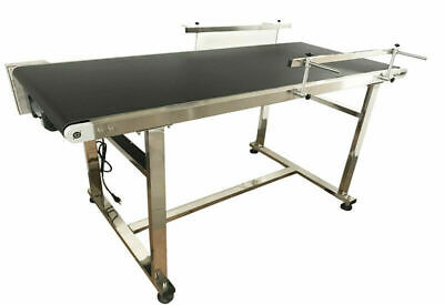 Powered 59 X 19.6 Stainless Coding Conveyor Belt Conveyors Material Handle