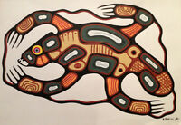 """The BEAVER"" Artist Brian Marion studied under  Norval Morriseau"