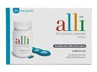 Alli weight loss capsules, 60mg, 84 capsules