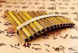 beautiful Pan Flute 15 Pipes Handmade Order yours now !  (we pay Shipping )