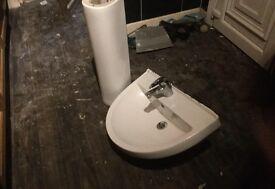 Sink pedestal and sink