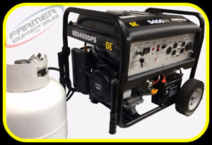 dual fuel Propane / Gasoline 9400 watt generator, electric start