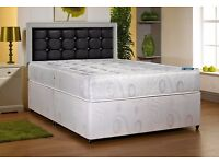 DOUBLE DIVAN BED WITH DIFFERENT TYPES OF MATTRESS FREE LOCAL DELIVERY