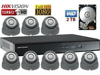 8 Full HD 1080P CCTV Cameras Package Clear Image Night Vision Installation and FREE Remote Setup