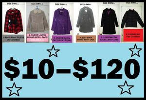 WOMEN'S Jackets & Coats (Small & Medium) --- $10 thru $120 !!!!