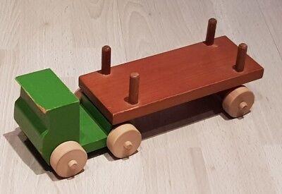 DDR Sattelschlepper Holz LKW Holzspielzeug Spielzeugauto selten Auto Schlepper Spielzeug
