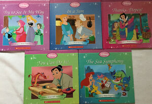 6 Sets x 5 Disney Princess Hard Cover Scholastic Books