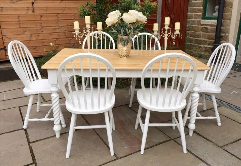 Farmhouse Dining Table And 6 Chairs Refinishing a Dining Room Set