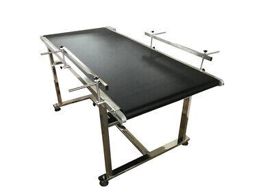 Packaging Machine 59x24 Black Pvc Belt Conveyor Flat Running 150x60 Cm
