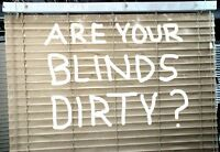 Are your blinds dirty? We can clean them for you!