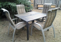 "The Patio ""Dining Set/5pcs"", ""Umbrella"" & ""Decor"" for sale"