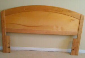 Double bed pine headboard (could be adjusted for queen)
