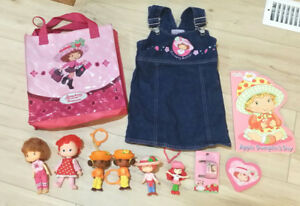 SIZE 2 STRAWBERRY SHORTCAKE JEAN DRESS PLUS 11 PIECE COLLECTION