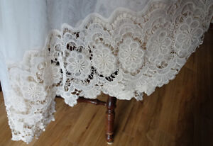 Window Valance with Lace Border