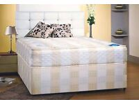 *****BARGAIN**** BRAND NEW FACTORY SEALED DOUBLE BED* DIVAN* & THICK COIL SPRING MATTRESS*****