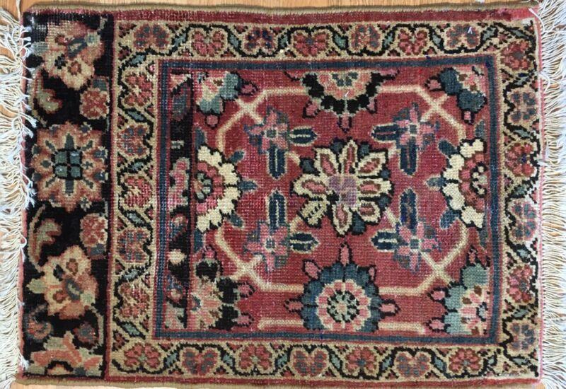 Whimsical Wagireh - 1880s Antique Oriental Rug - Tribal Carpet - 1.10 X 2.6 Ft.